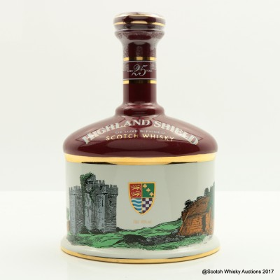 Highland Shield 25 Year Old Decanter