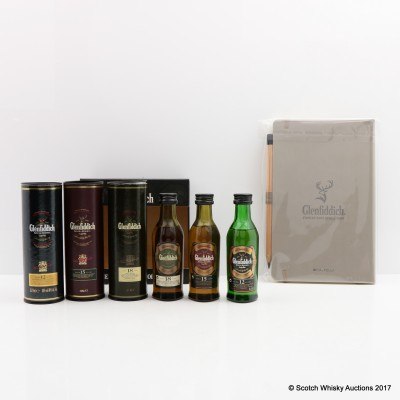 Glenfiddich Single Malt Collection 3 x 5cl, Note pad & Pencil