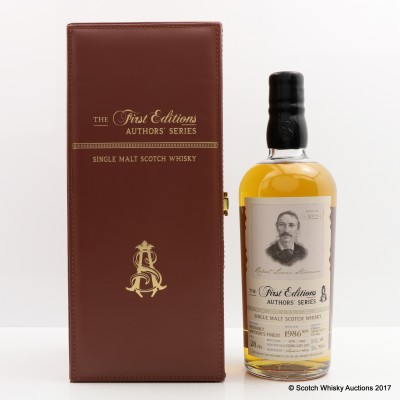 Probably Speyside's Finest Distillery 1986 26 Year Old THE FIRST EDITIONS AUTHORS' SERIES NO. 2 Robert Louis Stevenson