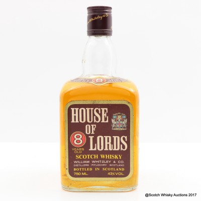 House Of Lords 8 Year Old 75cl
