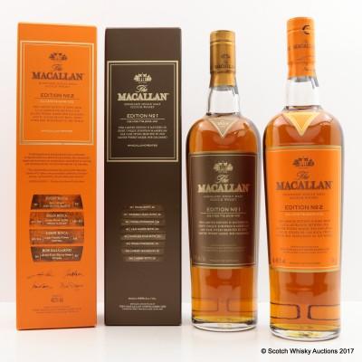 Macallan Edition No1 & Macallan Edition No2