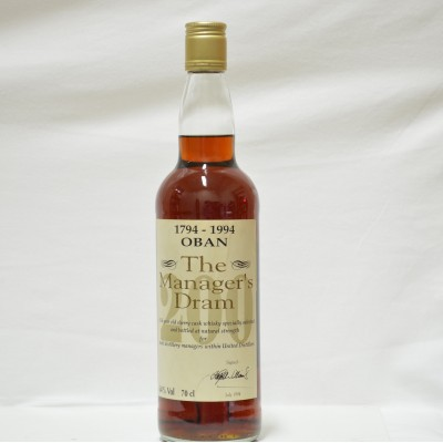 Manager's Dram Oban 200th Anniversary 16 Year Old