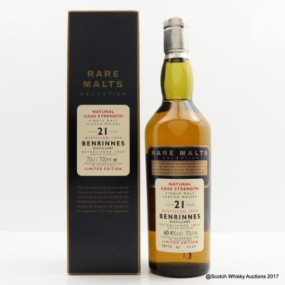 Rare Malts Benrinnes 1974 21 Year Old