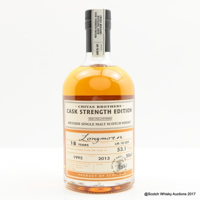 Longmorn 1995 18 Year Old Chivas Brothers Cask Strength Edition 50cl