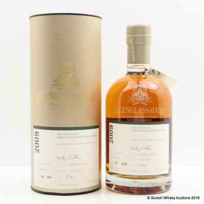 Glenglassaugh 2009 7 Year Old Rare Cask Release