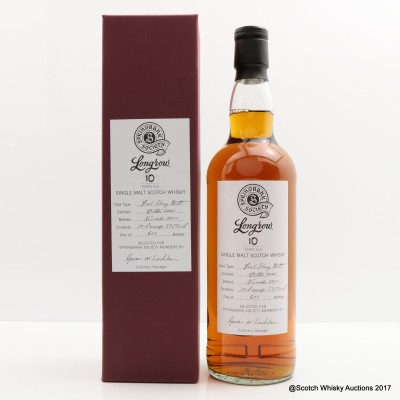 Longrow 2001 10 Year Old Society Bottling