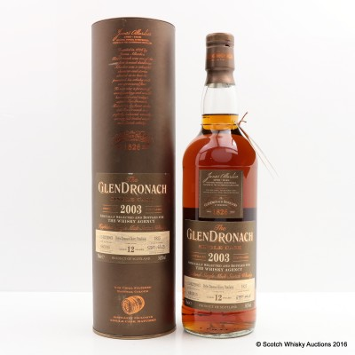 GlenDronach 2003 12 Year Old Single Cask #1825 for The Whisky Agency