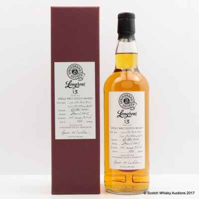 Longrow 2001 13 Year Old Springbank Society Bottling