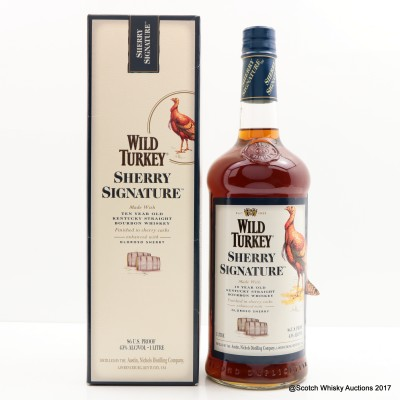 Wild Turkey 10 Year Old Sherry Signature 1L