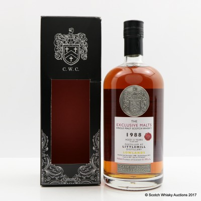 Littlemill 1988 25 Year Old Creative Whisky Co Exclusive Malts 75cl
