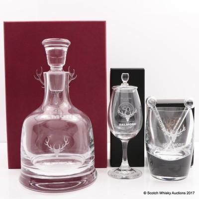 Dalmore Decanter, Copita Glass, Tumbler & 2x Pipettes
