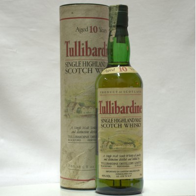Tullibardine 10 Year Old In Tube