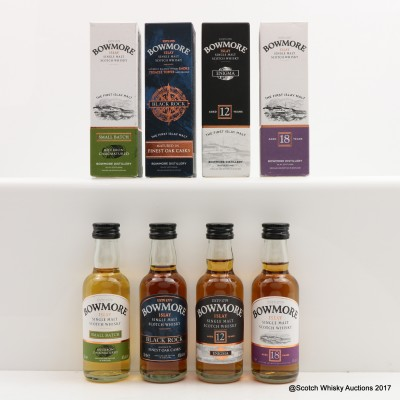 Assorted Bowmore Minis 4 x 5cl