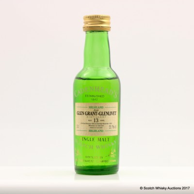 Glen Grant-Glenlivet 1980 13 Year Old Cadenhead's Mini 5cl