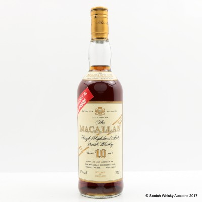 Macallan 10 Year Old 100° Proof