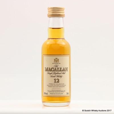 Macallan 12 Year Old Mini 5cl