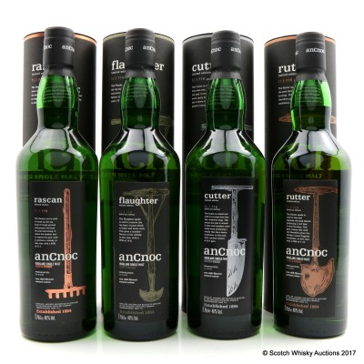 anCnoc UK Set - Rascan, Flaughter, Cutter & Rutter 4 x 70cl