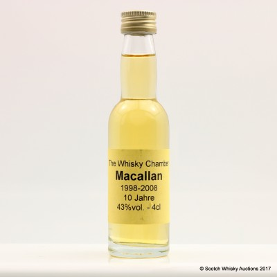 Macallan 1998 10 Year Old The Whisky Chamber Mini 4cl