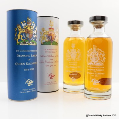 English Whisky Co Diamond Jubilee & English Whisky Co Royal Marriage