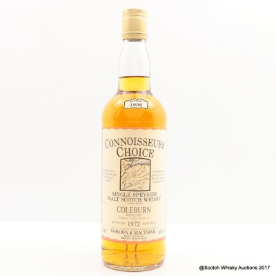 Coleburn 1972 Connoisseurs Choice