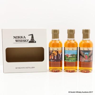 """Nikka Miyagikyo """"51"""" Tasting Set 3 X 18cl"""
