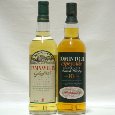 Tamnavulin 10 Year Old & Tomintoul 10 Year Old