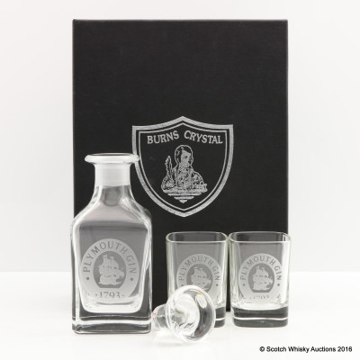 Plymouth Gin Decanter & Glasses