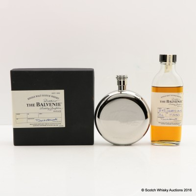 Balvenie 15 Year Old Duty Paid Sample 10cl & Balvenie Hip Flask