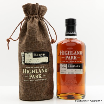 HIGHLAND PARK 2002 13 YEAR OLD SINGLE CASK FOR GERMANY