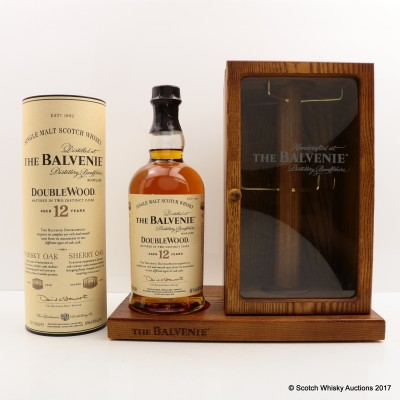 Balvenie 12 Year Old Doublewood Including Balvenie Handcrafted Wooden Bottle Stand Key Holder