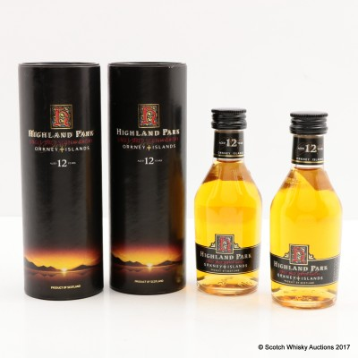 Highland Park 12 Year Old Dumpy Mini 2 x 5cl