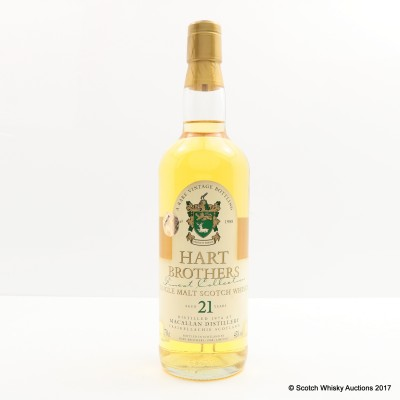 Macallan 1974 21 Year Old Hart Brothers