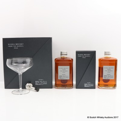 Nikka From The Barrel Glass & Pourer Set & Nikka From The Barrel 50cl
