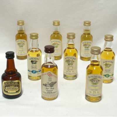 Assorted Bowmore Minis x 9