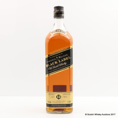 Johnnie Walker 12 Year Old Black Label 1L