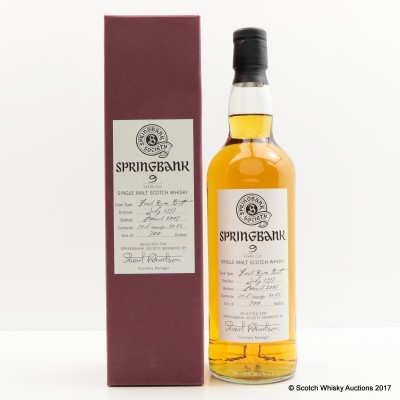 Springbank 1997 9 Year Old Society Bottling