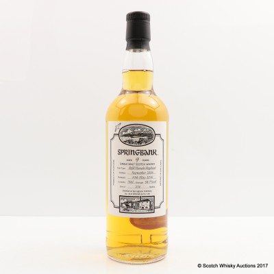 Springbank 2006 9 Year Old Open Day 2016