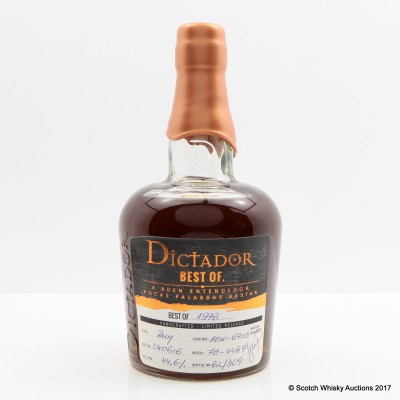 Dictador Best Of 1978 Rum