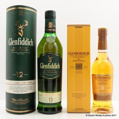 Glenfiddich 12 Year Old & Glenmorangie 10 Year Old 35cl