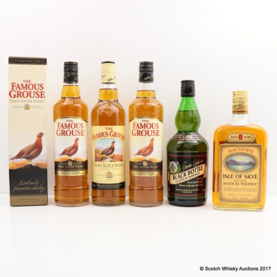 Assorted Blended Whiskies x 5 Including Macleod's Isle of Skye 8 Year Old