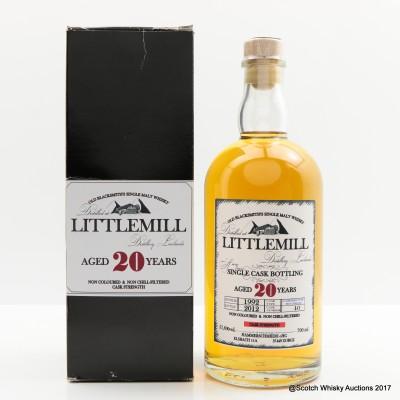 Littlemill 1992 20 Year Old Single Cask Old Blacksmith's