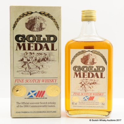 Gold Medal Fine Scotch Whisky Commonwealth Games 1986 Souvenir Bottle 75cl