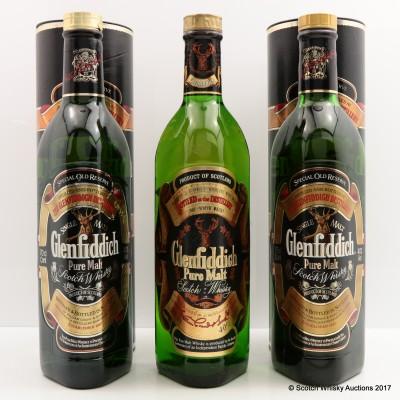 Glenfiddich Special Old Reserve x 2 & Glenfiddich Pure Malt