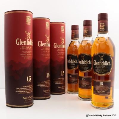Glenfiddich 15 Year Old 3 x 70cl