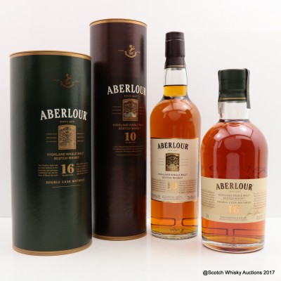 Aberlour 16 Year Old Double Cask 75cl & Aberlour 10 Year Old