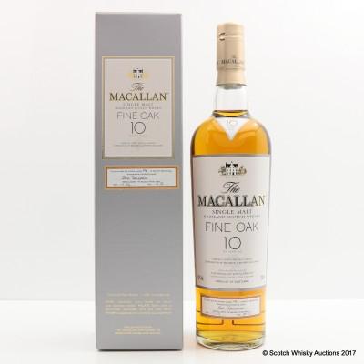 Macallan 10 Year Old Fine Oak One Of 1st Hundred Bottlings (Signed By Bob Dalgarno)