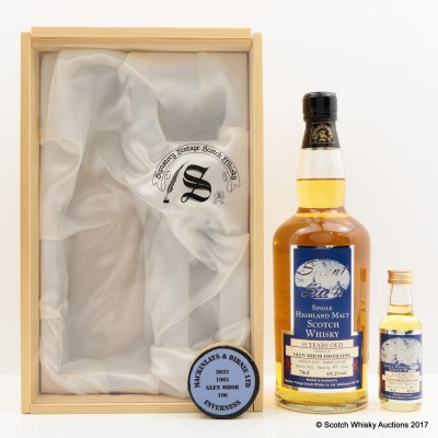Glen Mhor 1965 35 Year Old Silent Stills Signatory With Matching Mini 5cl