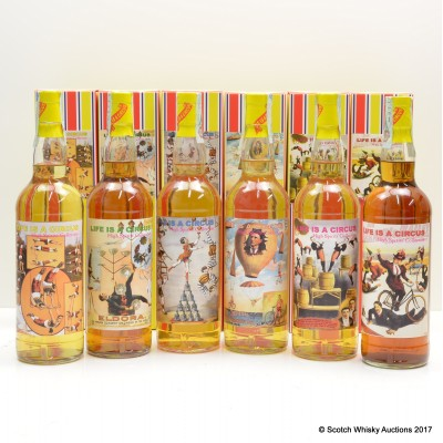 High Spirits ' Life is a Circus' Collection 6 x 70cl