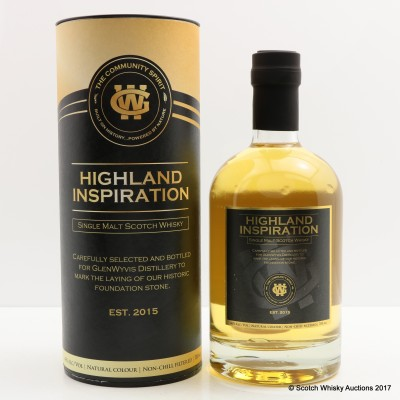 Highland Inspiration bottled to Mark Laying Of Foundation Stone For Glen Wyvis Distillery