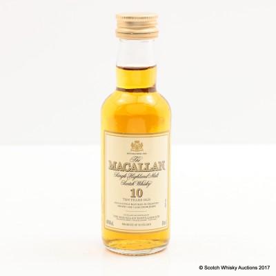 Macallan 10 Year Old Mini 5cl